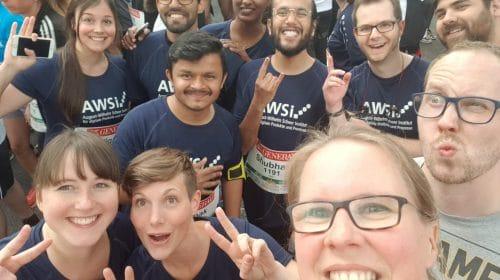 Unser Runner-Team vor dem Startschuss beim Firmenlauf Saarbrücken 2019