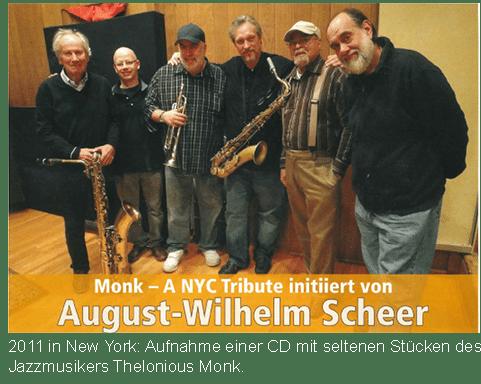 Prof. Scheer nimmt eine CD auf