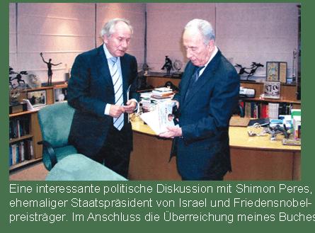 Prof. Scheer im Gespräch mit ehemaligem Staatspräsident von Israel