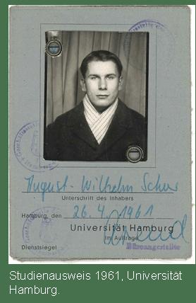 Studentenausweis von Prof. Scheer