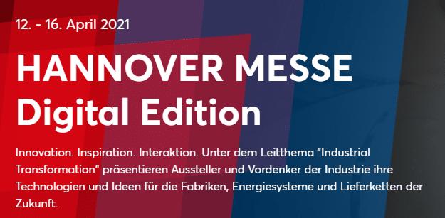 Banner der Hannover Messe 2021